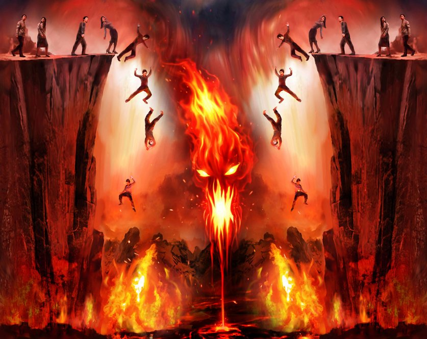 The flames of hell
